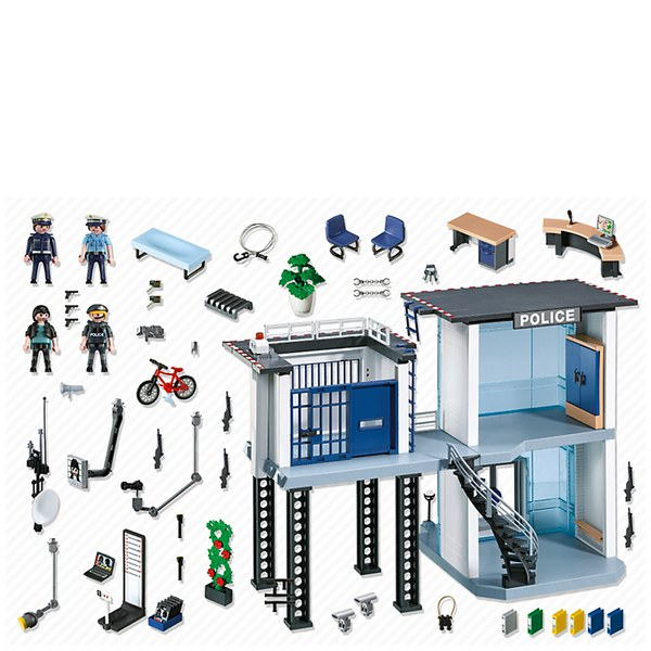 Playmobil police station 5182 toys - Caserne de police playmobil ...