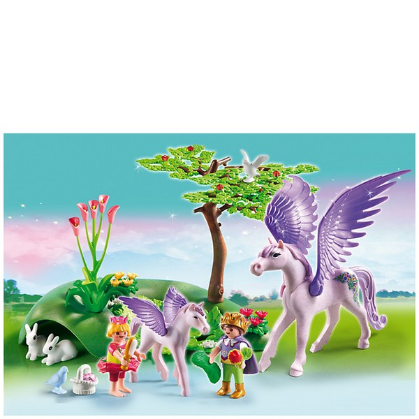 Playmobil Fairies Royal Children With Pegasus And Baby