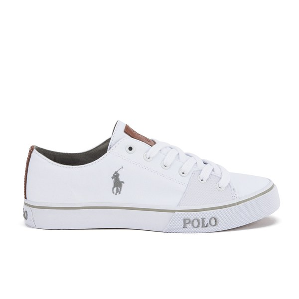 Polo Ralph Lauren Men s Cantor Low Canvas Trainers - Pure White  Image 1 d04f633a2