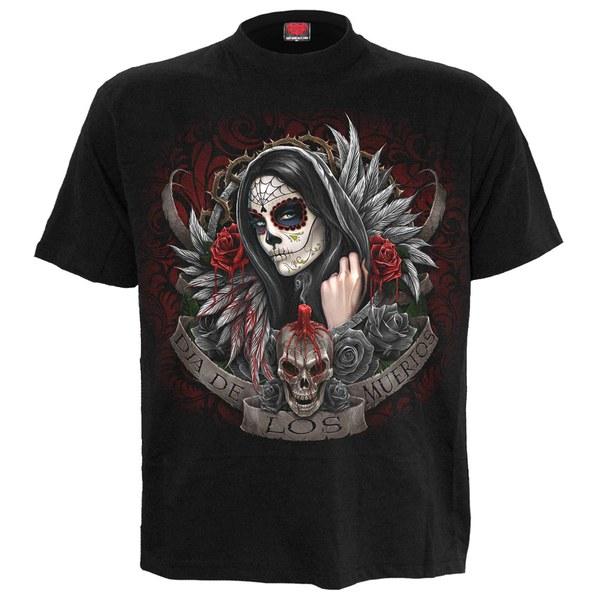 T-Shirt Homme Spiral Muertos Dias - Noir