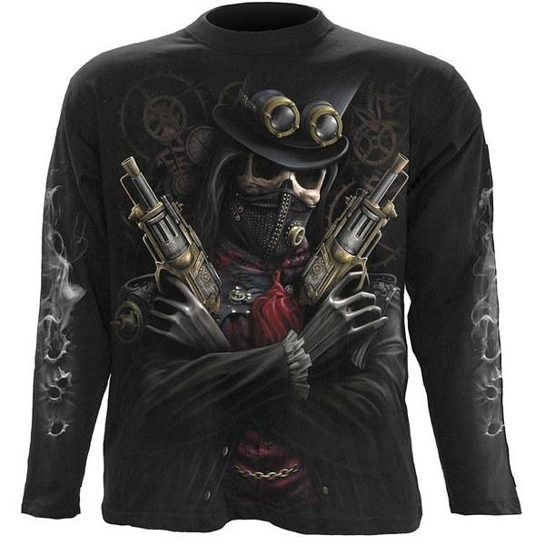 T-Shirt Homme Manches Longues STEAM PUNK BANDIT Spiral - Noir