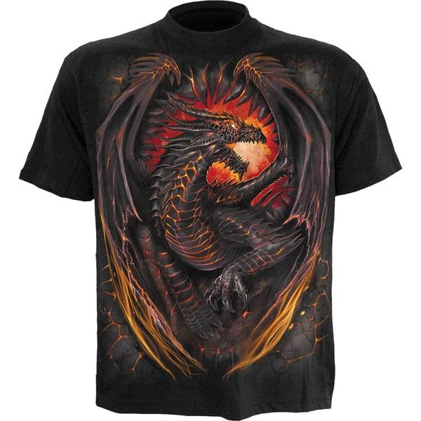 Spiral Men's DRAGON FURNACE T-Shirt - Black