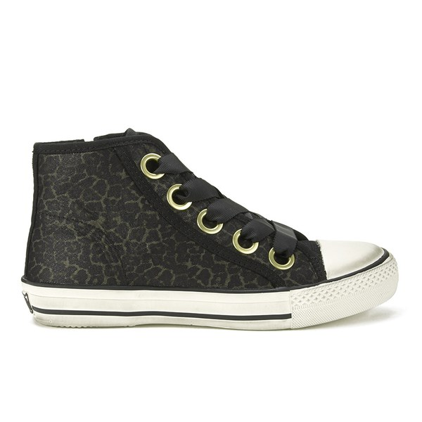 Ash Women's Venus Leopard Mesh Hi-Top Trainers - Black