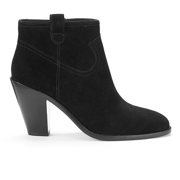 Ash Women's Ivana Suede Heeled Ankle Boots - Black