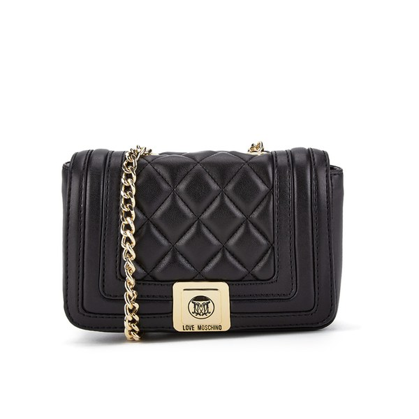 Love Moschino Women S Quilted Small Cross Body Bag Black Image 1