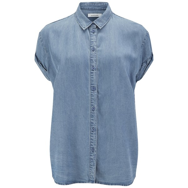 Samsoe samsoe women 39 s moffa shirt light chambray for Chambray shirt women