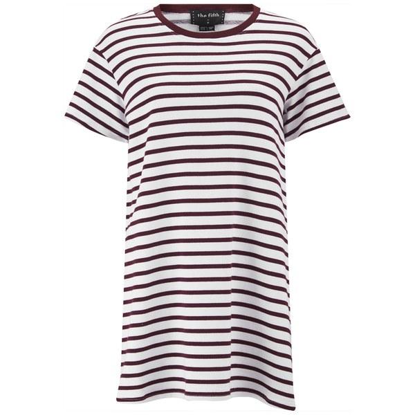 The Fifth Label Women's Building Blocks T-Shirt Dress - White/Burgundy