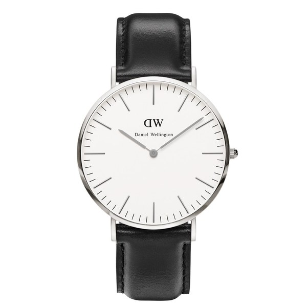 Daniel Wellington Men's Classic Sheffield Silver Watch - Black