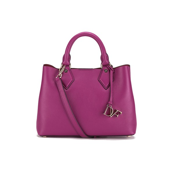 Diane von Furstenberg Women's Voyage on-the-Go Small Leather Carryall Tote Bag - Azalea