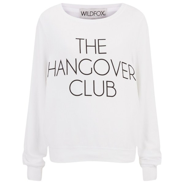 Wildfox Women's Hangover Club Baggy Beach Jumper - White