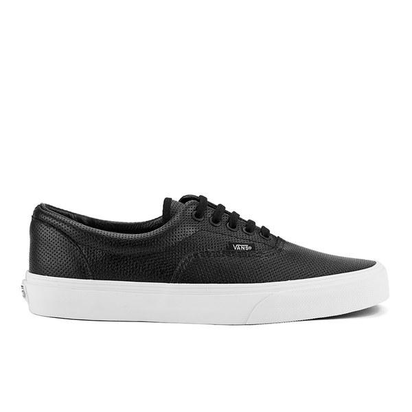 Vans Men s Era Perforated Leather Trainers - Black  Image 1 22c00ad4af