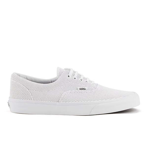 a2e8c90e765522 Vans Men s Era Perforated Leather Trainers - True White  Image 1