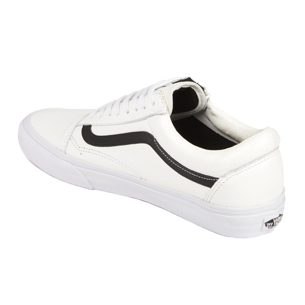 Vans Men s Old Skool Zip Premium Leather Trainers - True White Mens ... c51b5867cee4