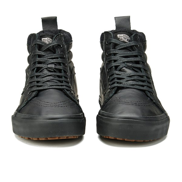 vans high top black leather