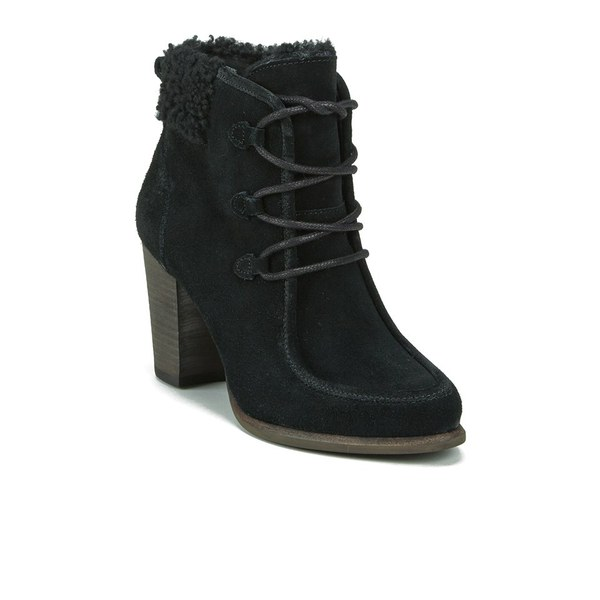 UGG Women's Analise Lace up Heeled Ankle Boots - Black: Image 5