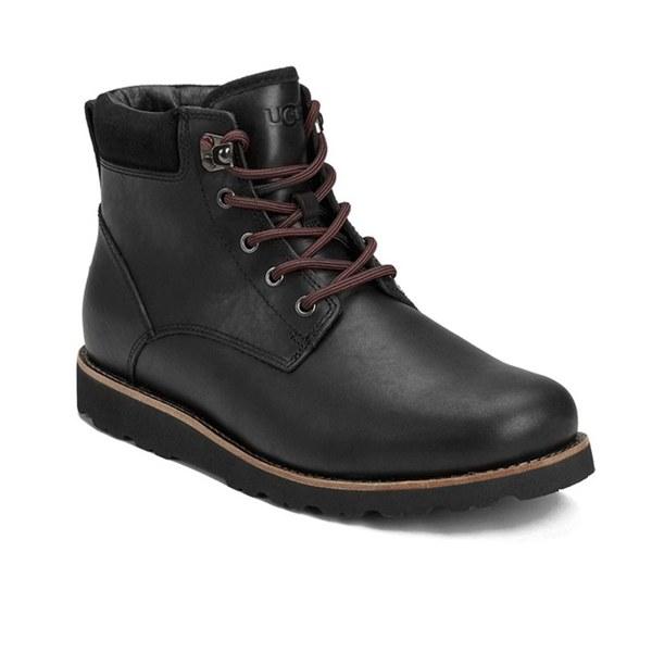 UGG Men's Seton TL Waterproof Leather Lace Up Boots - Black: Image 5
