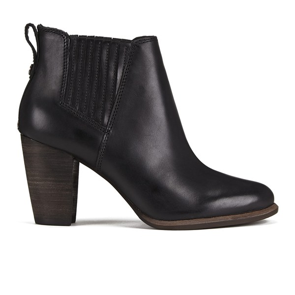 UGG Women's Poppy Heeled Ankle Boots - Black: Image 1