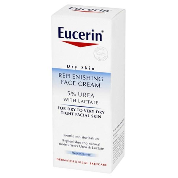 eucerin dry skin replenishing face cream 5 urea with lactate 50ml free shipping. Black Bedroom Furniture Sets. Home Design Ideas