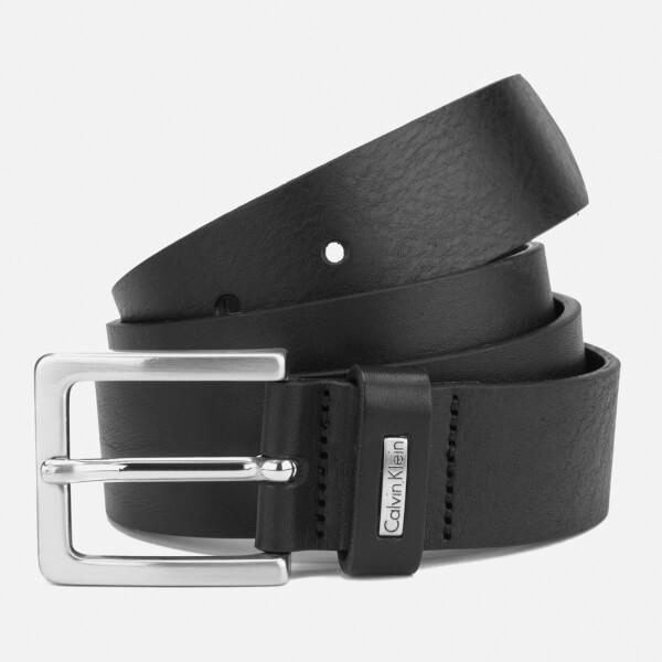 Calvin Klein Men's Mino Mino Leather Belt - Black