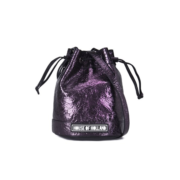 House of Holland Women's Cuki Pack Mini Bucket Bag - Purple