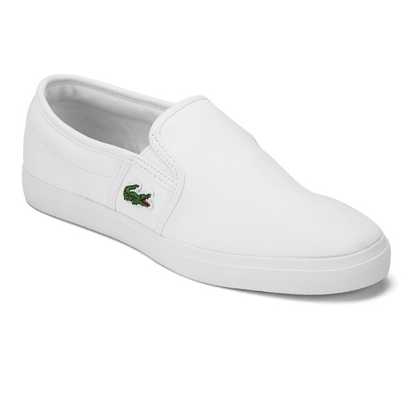 61d180149 Lacoste Women s Gazon Sport HTB Canvas Slip-on Pumps - White  Image 4
