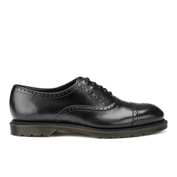 Dr. Martens Men's Henley Morris Polished Smooth Brogues - Black Polished