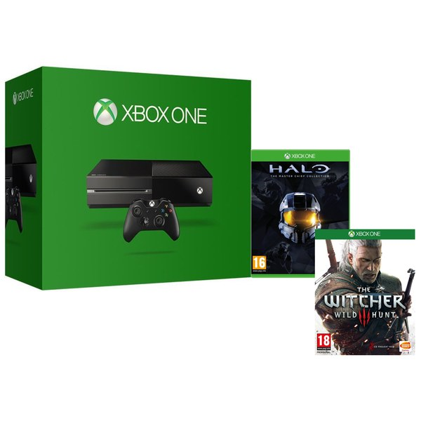 xbox one console includes halo the master chief collection the witcher 3 xbox one. Black Bedroom Furniture Sets. Home Design Ideas