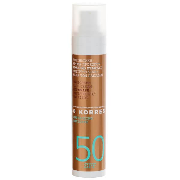 KORRES Natural Red Grape Anti-Spot Face Sunscreen SPF50 50ml