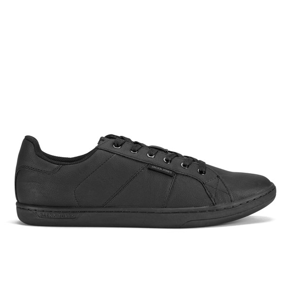 Jack & Jones Men's Brooklyn PU Triple Trainers  Black: Image 1