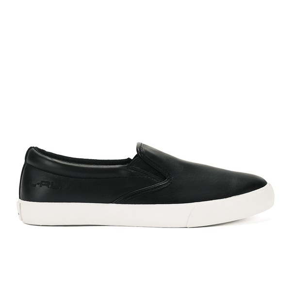 Lauren Ralph Lauren Women's Cedar Leather Slip On Trainers - Black