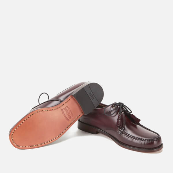 40ca48f567b Bass Weejuns Men s Lace Up Leather Loafers - Wine  Image 6