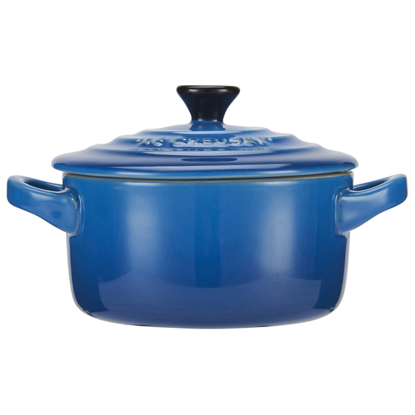 le creuset stoneware petite casserole dish marseille blue homeware. Black Bedroom Furniture Sets. Home Design Ideas