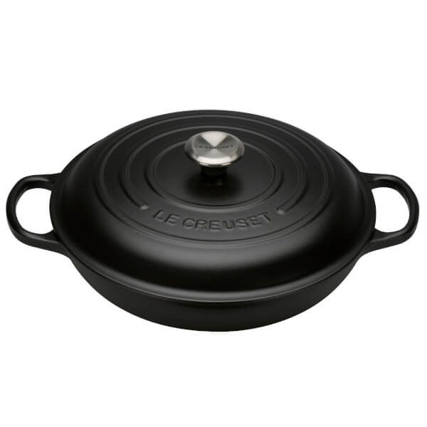 Le Creuset Signature Cast Iron Shallow Casserole Dish - 26cm - Satin Black