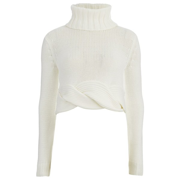 C/MEO COLLECTIVE Women's Twist it Up Jumper - White
