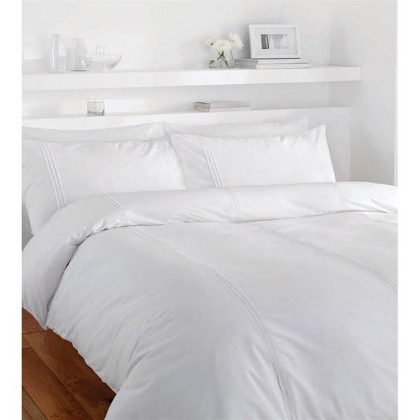 Parure de lit Réversible Catherine Lansfield - Blanc