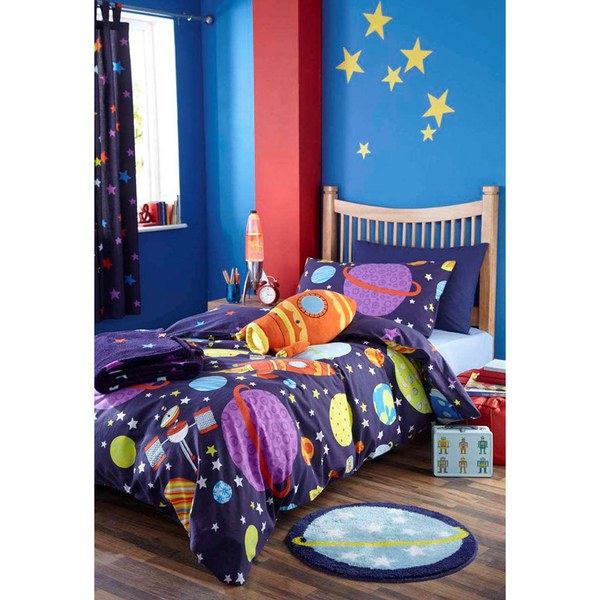 Catherine Lansfield Outer Space Single Duvet Set - Multi