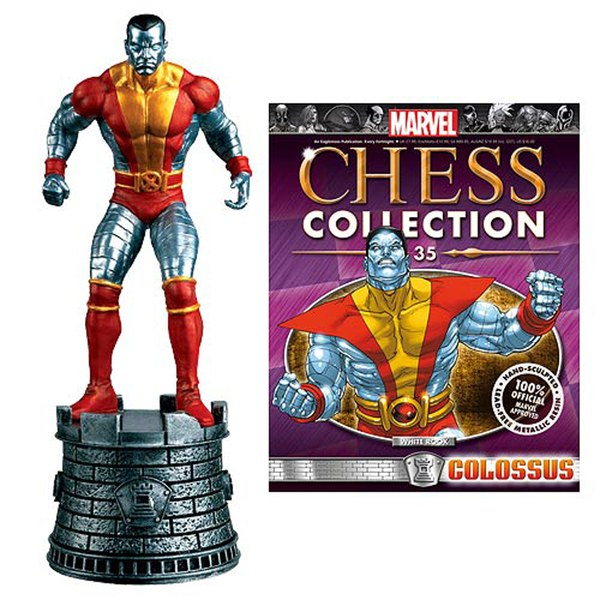 Marvel X-Men Colossus White Rook Chess Piece with Collector Magazine