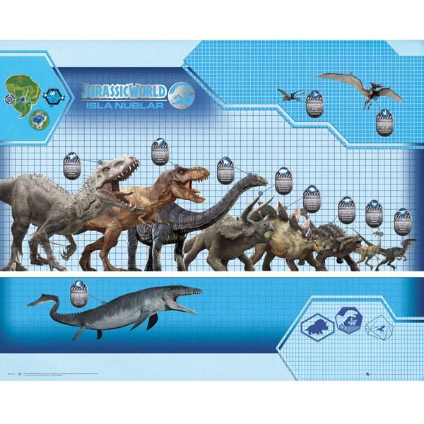Jurassic World Size Chart - 16 x 20 Inches Mini Poster