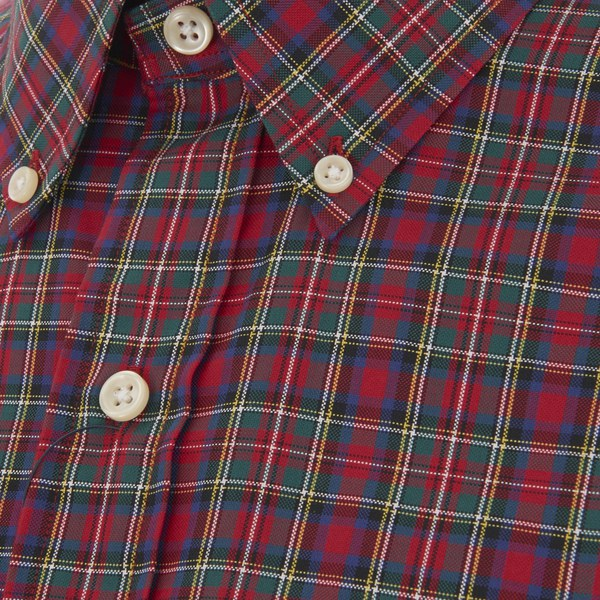Polo ralph lauren men 39 s long sleeve button down checked for Red and green checked shirt