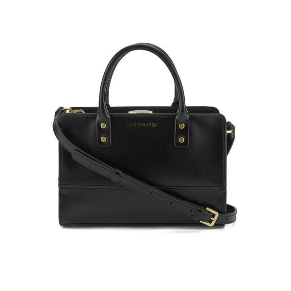Lulu Guinness Women's Daphne Mini Polished Calf Leather Tote Bag - Black