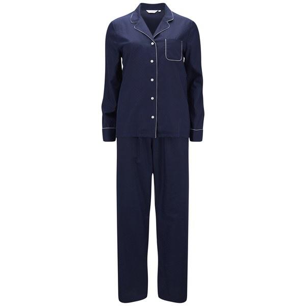 Derek Rose Women's Lombard 5 Pyjama Set - Navy