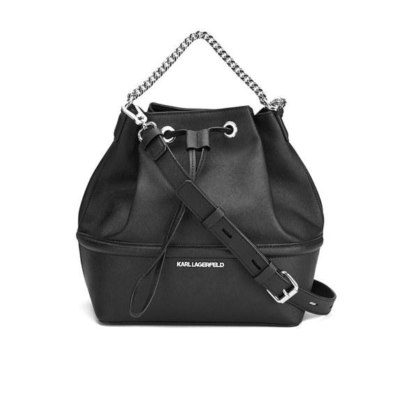 Karl Lagerfeld Women S K Klassik Drawstring Bag Black Image 1