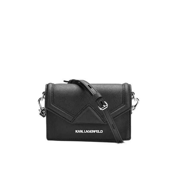 Karl Lagerfeld Women's K/Klassik Super Mini Cross Body Bag - Black