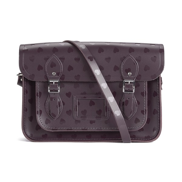 The Cambridge Satchel Company Women's Heart Print 13 Inch Satchel - Port