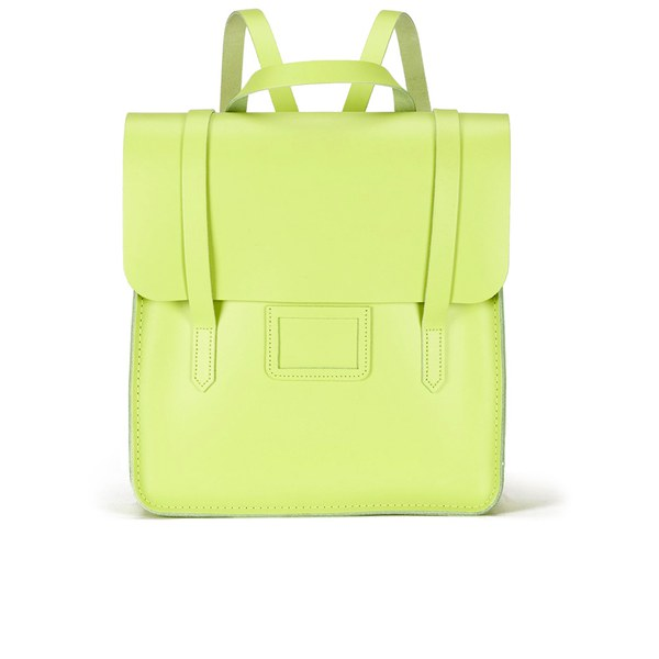 The Cambridge Satchel Company Women s Folio Backpack Fluoro Lime  Image 1 ed71b32d36f7e