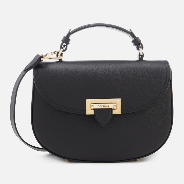 Aspinal of London Women's The Letterbox Saddle Bag - Black