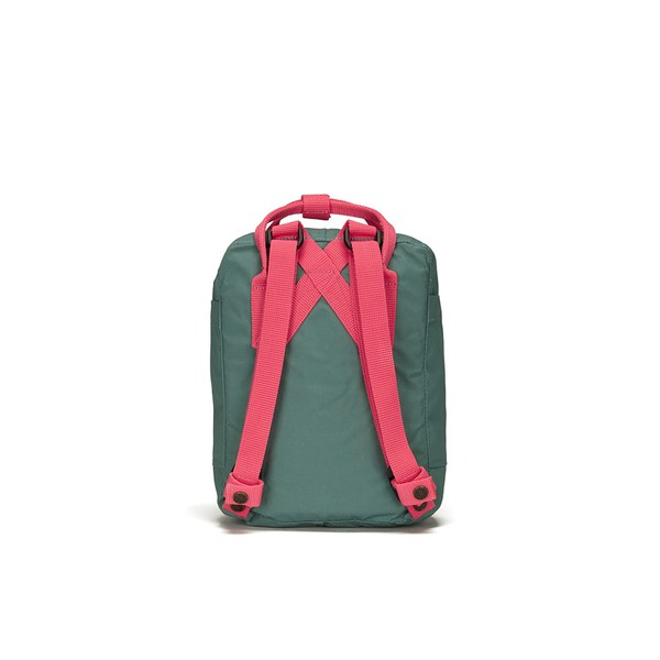 Fjallraven Men S Kanken Mini Backpack Frost Green Peach Pink