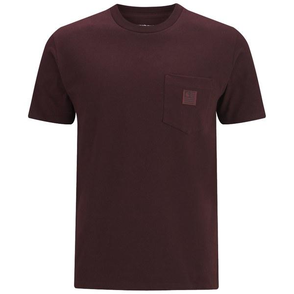 Carhartt Men's SS State Pocket T-Shirt - Damson
