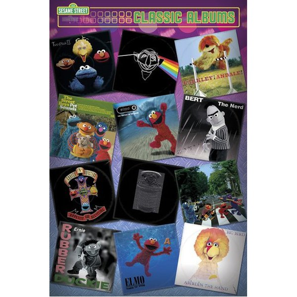 Sesame Street Classic Albums - 24 x 36 Inches Maxi Poster