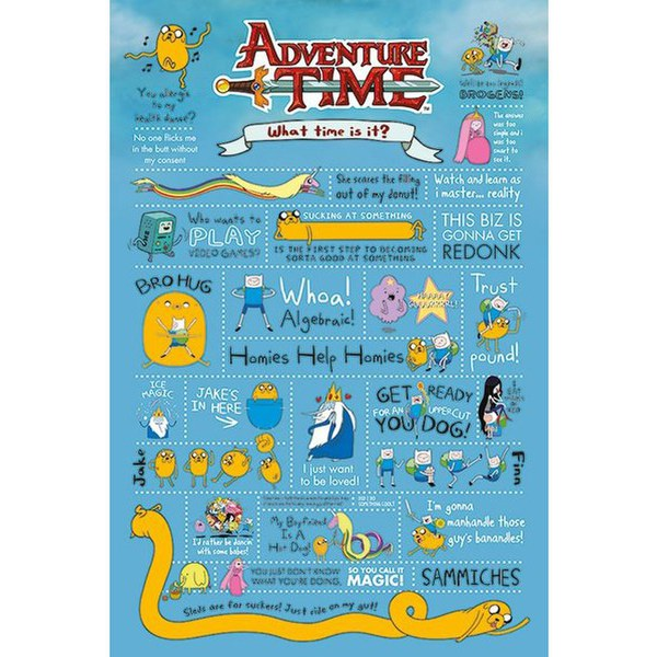 Adventure Time Infographic - 24 x 36 Inches Maxi Poster